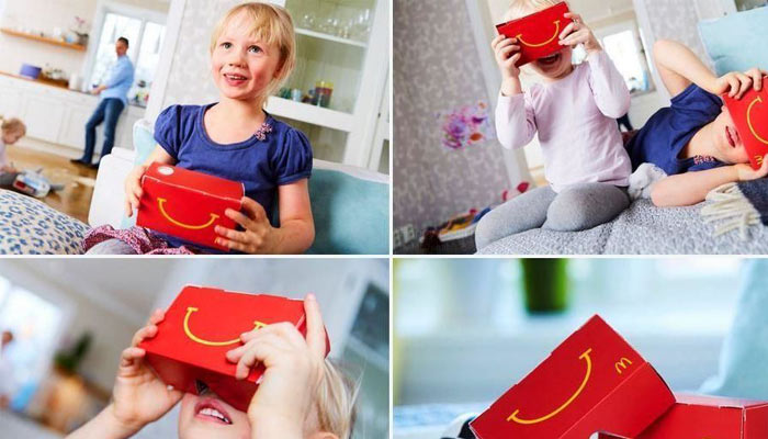 McDonalds Uses VR Happy Meal Boxes to Woo kids