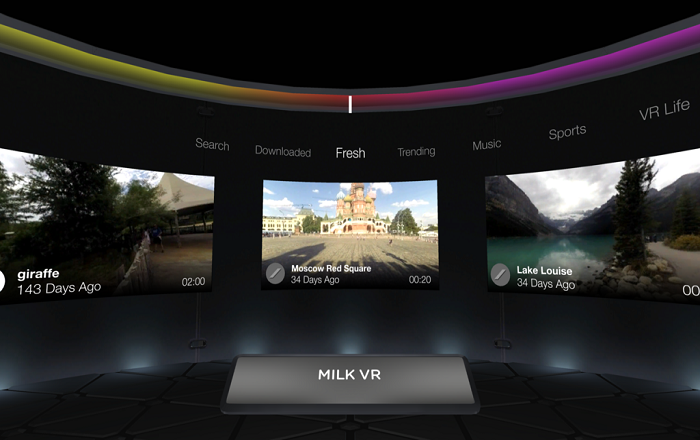 Samsung's Milk VR lets you Watch VR content without a Headset