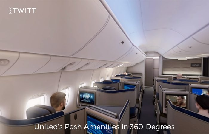 Business Class Of United Airlines Dipped In VR