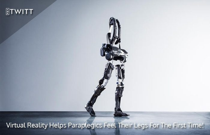 Paraplegics Learn to Walk with Virtual Legs using Exoskeletons