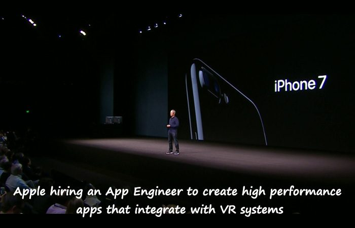 Apple On AR/VR For All New iPhone 7, But They Are Working On It