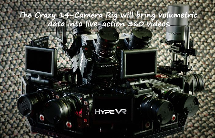 HypeVR a 14-Camera Rig Captures Volumetric VR Video With LiDAR