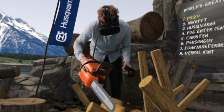 VR Logging Game Launched By A Swedish Chainsaw Brand