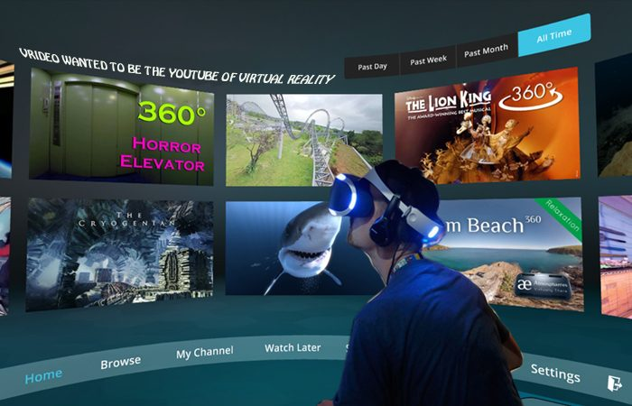 Vrideo, Virtual Reality Video Centre Just Ran Out Of Money