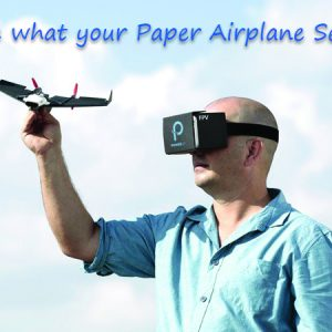 Paper Airplane VR Drone as 'Powerup FPV'