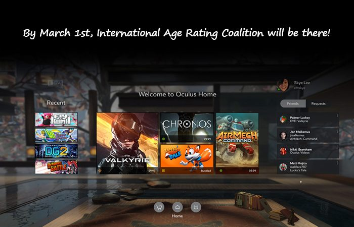 Titles In The Oculus Store Will Be Passed via The IARC Rating Process