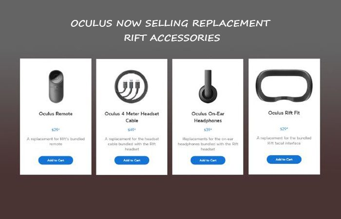Get Replacement For Your Rift Accessories by Oculus