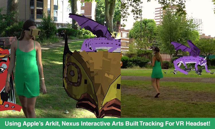 Nexus Interactive Arts Built Inside-Out Tracking For A VR Headset With Arkit