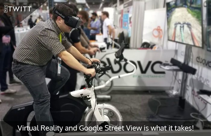 This British Man is cycling through the Streets of UK using VR