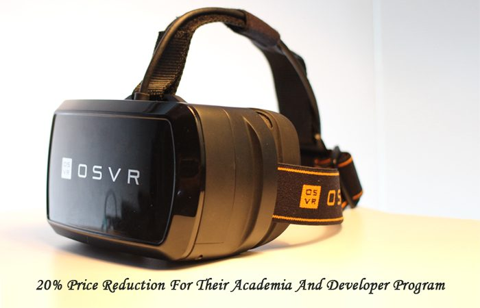 OSVR Offers Discount On HDK 2 To Students & Developers